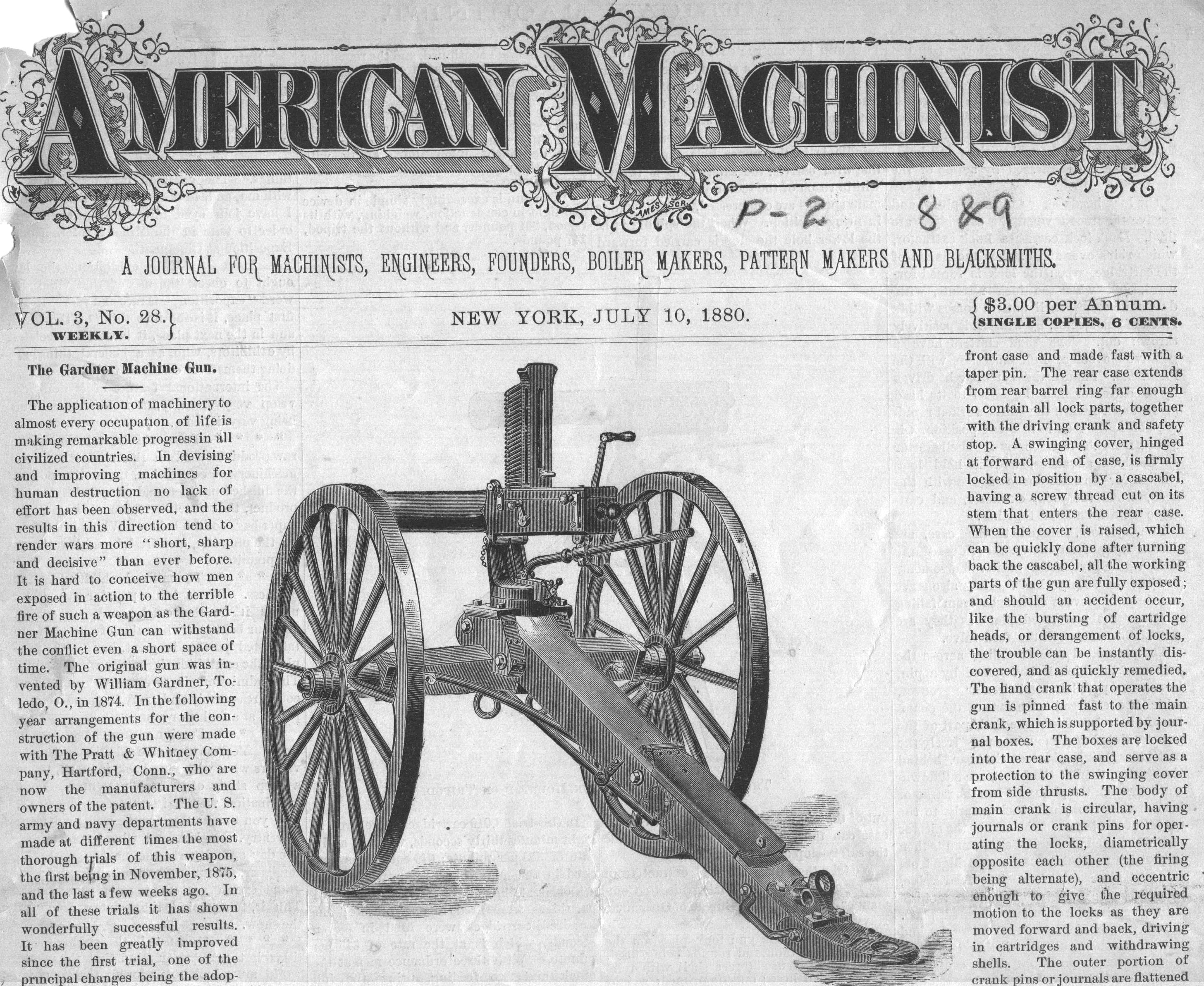 http://antiquemachinery.com  Gardener civil war wagon wheeled  hand crank  Automatic July 10 1880 AM